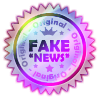 Sticker original fake news