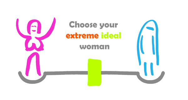 Choose your ideal extreme woman.