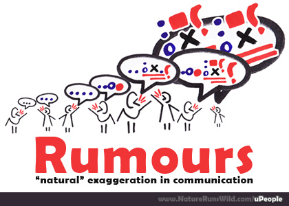 The origin of rumours